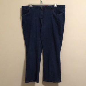 2/$15 Smith's Dungarees Dark Jeans 22W